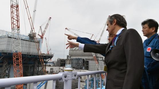 Grossi visiting Fukushima in February 2020