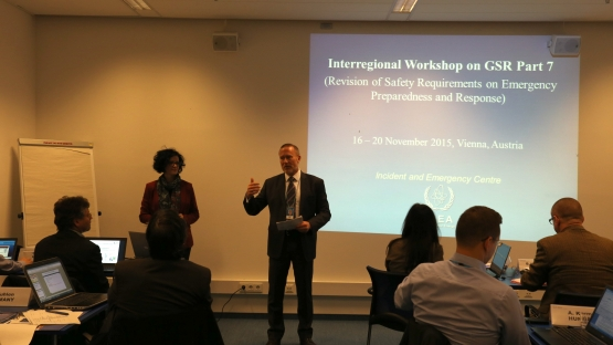 participants at the interregional workshop on the recently released  Part 7 of the IAEA General Safety Requirements