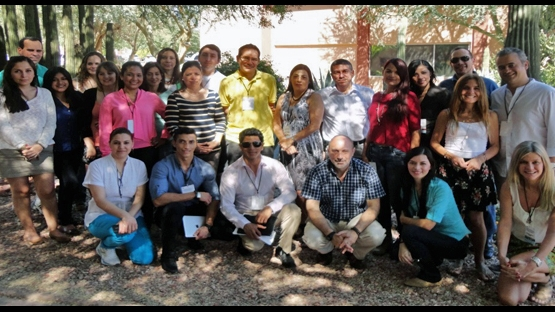 Participants at the training course