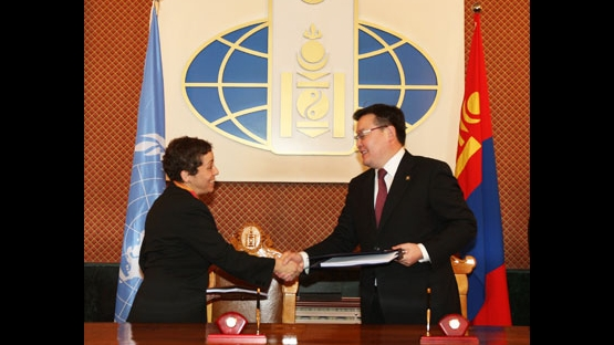 Mongolia signs first UNDAF
