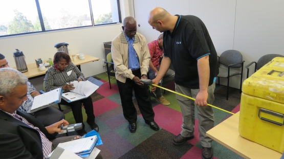 Trainees learn about the practical aspects of inspection