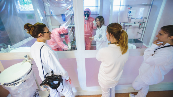 Radiological controls mock-up training facility at the INSTN Marcoule training center in France