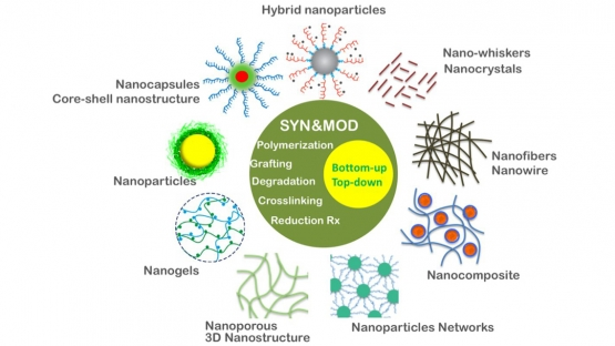 Creation of a wide variety of nanostructures by ionizing radiation