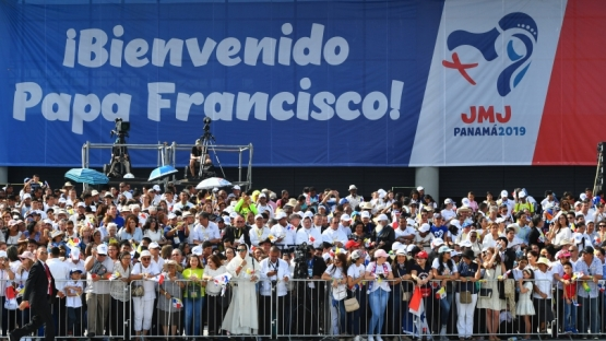 Panama City, 23 January 2019. Crowds cheered as Pope Francis arrived at the Tocumen International Airport for World Youth Day 2019. Panama, the first Central American country to host the World Youth Day, cooperated with the IAEA to ensure nuclear security at the event.