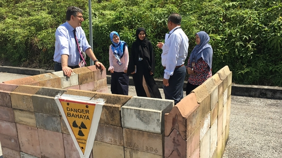 Interview with the staff of Nuclear Malaysia Training Centre- field area for practical sessions of Training Centre with shielded enclosure