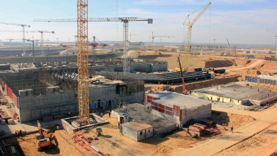 Ostrovets, Belarus: Construction works at the country's first nuclear power plant as of September 2014. (Photo: Directorate for NPP Construction, Belarus)