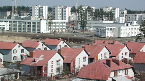 The new and modern city of Slavutich,  some 50 km from the Chernobyl Nuclear Power Plant, was built after the accident in a nationwide  showcase  effort to demonstrate that the accident was being dealt with successfully.