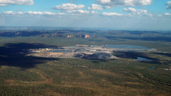 Uranium, the raw material for today's nuclear fuel, is a slightly radioactive metal that occurs throughout the earth's crust. It must be processed through a series of steps to safely produce efficient fuel for generating electricity. Aerial view of the Ranger uranium mine, Northern Territory, Australia, 2014. Photo Credit M. Ingrames
