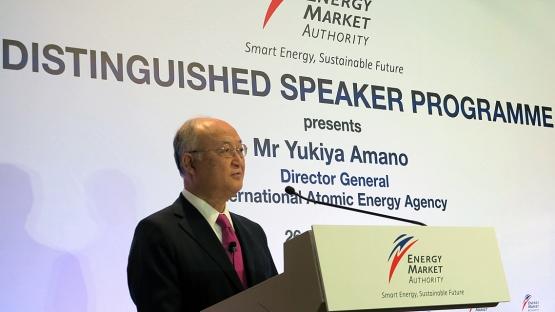 IAEA Director General Yukiya Amano in Singapore