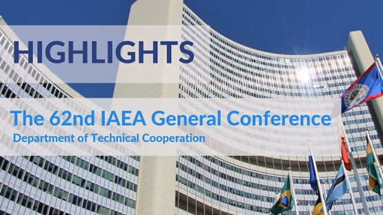 The IAEA held its 62nd General Conference in September 2018. Over 2500 participants from 153 Member States attended. Multiple side events and informal meetings offered delegates the chance to learn about the IAEA's work in nuclear science and technology, safety, security, safeguards and technical cooperation.