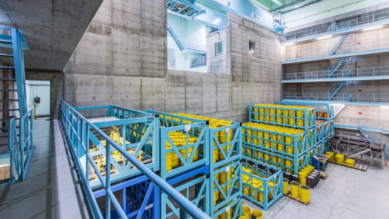 Storage hall for low- and medium-level radioactive waste at ZWILAG Switzerland